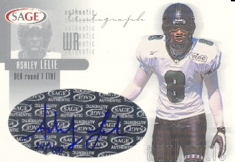 2002 SAGE Autographs Silver #A26 Ashley Lelie/400