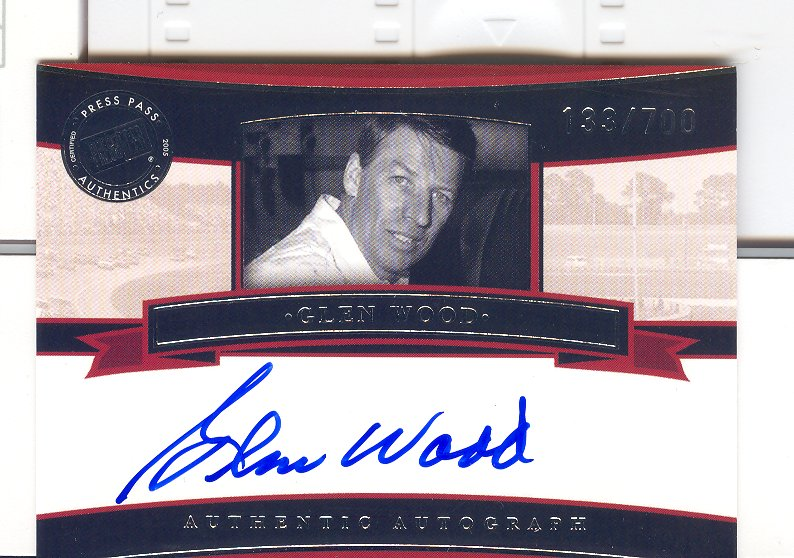 2005 Press Pass Legends Autographs Blue #11 Glen Wood/700