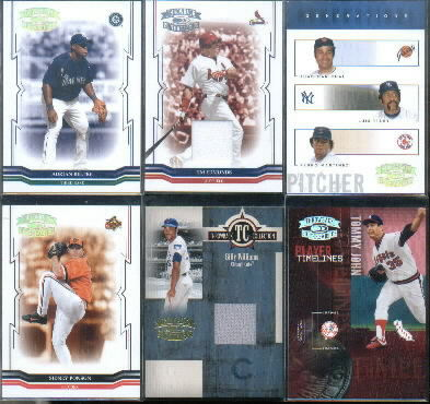2005 Throwback Threads Throwback Collection Material #32 Billy Williams Jsy/100