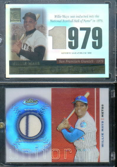 2003 Finest Uniform Relics #WM Willie Mays A