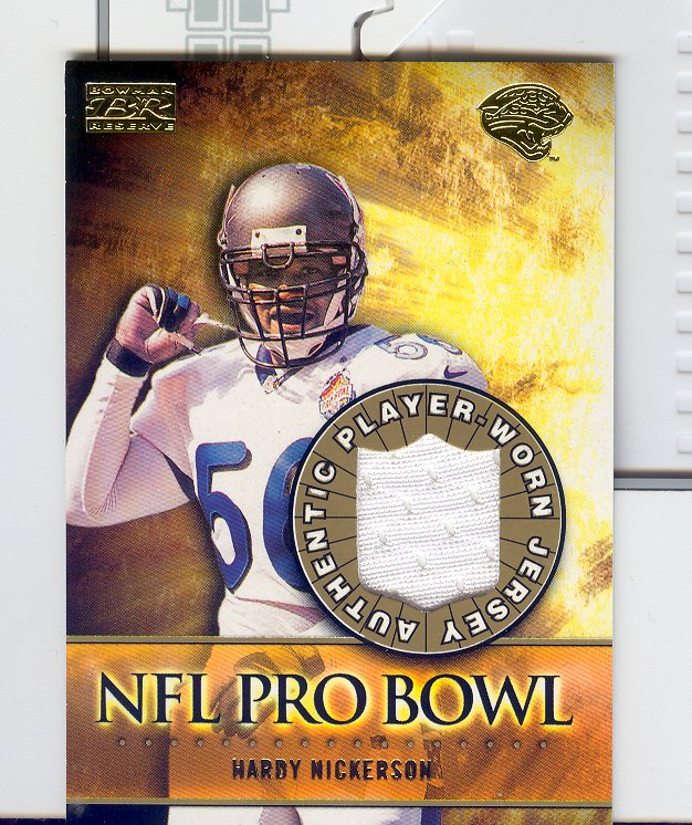 2000 Bowman Reserve Pro Bowl Jerseys #PBHN Hardy Nickerson