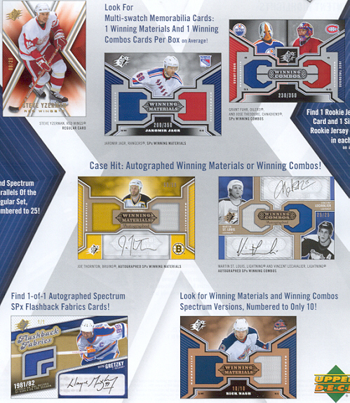 2005-06 (2006) Upper Deck SPX Hockey Factory Sealed Box (1 Autographed Rookie Jersey, 1 Rookie Jersey & 2 Dual Relic Cards in Every Box) (Possible Sidney Crosby & Alexander Ovechkin Rookies)