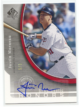 2005 SP Authentic Honors Signature #MO Justin Morneau
