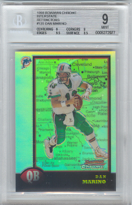 1998 Bowman Chrome Interstate Refractors #135 Dan Marino