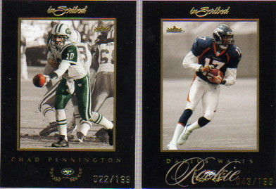 2004 Fleer Inscribed Black Border Gold #96 Darius Watts