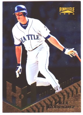 1996 Pinnacle Foil #275 Alex Rodriguez HH