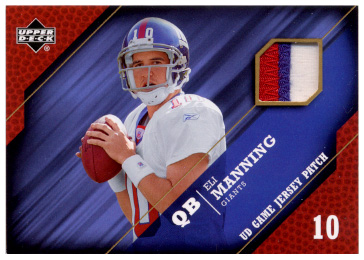 2005 Upper Deck Game Jersey Patches #PEM Eli Manning