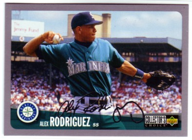 1996 Collector's Choice Silver Signature #316 Alex Rodriguez