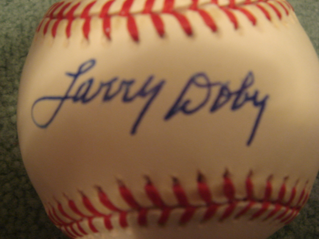 Larry Doby autographed AL Baseball PSA Authenticated