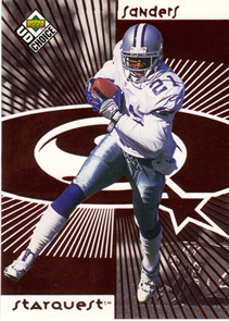 1998 UD Choice Starquest Red #21 Deion Sanders