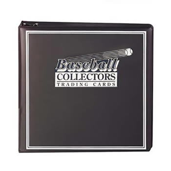 BASEBALL CARD ALBUM 3 INCH BLACK - ULTRA PRO WITH 10 PAGES