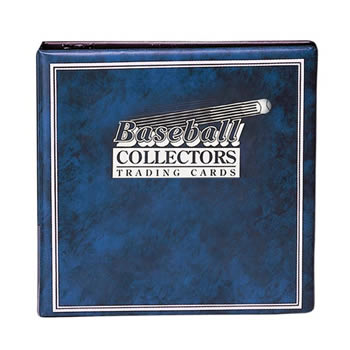 BASKETBALL CARD ALBUM 3 INCH BLUE ALBUM W/ 10 PAGES