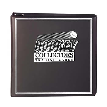 HOCKEY CARD ALBUM 3 inch Album - BLACK  HOLDS 100 SHEETS