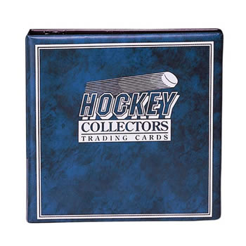 HOCKEY CARD ALBUM 3 INCH BLUE W/ 10 ULTRA PRO PAGES