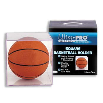 BASKETBALL CUBE HOLDER - ULTRA PRO - PROTECT YOUR AUTO BALL