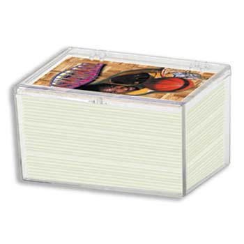 100 CT HINGED CARD PLASTIC BOX  - ULTRA PRO