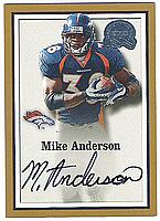 2000 Greats of the Game #134 Mike Anderson AUTO RC
