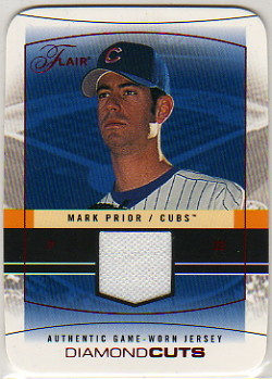 2004 Flair Diamond Cuts Game Used Red Die Cut #MAP Mark Prior