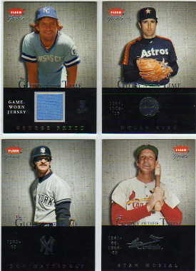 2004 Greats of the Game Glory of Their Time Game Used #GB George Brett Jsy