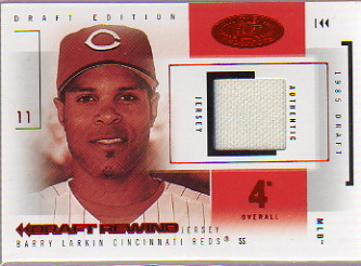 2004 Hot Prospects Draft Rewind Jersey Red Hot #BL Barry Larkin