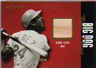 2004 Fleer InScribed Names of the Game Material Copper #TP Tony Perez Bat