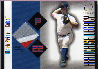 2004 Fleer Legacy Franchise Patch 99 #MPR Mark Prior