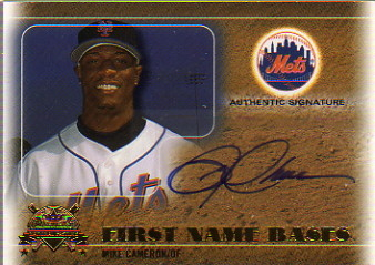 2005 National Pastime First Name Bases Autograph Gold #MCAM Mike Cameron/126