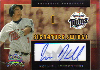 2005 National Pastime Signature Swings Silver #KUB Jason Kubel