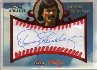 2004 Fleer Sweet Sigs Autograph Red #DE Dennis Eckersley/75
