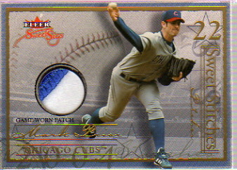 2004 Fleer Sweet Sigs Sweet Stitches Patch Gold #MP2 Mark Prior