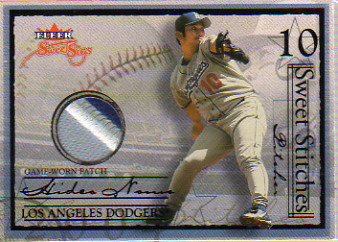 2004 Fleer Sweet Sigs Sweet Stitches Patch Black #HN Hideo Nomo/36
