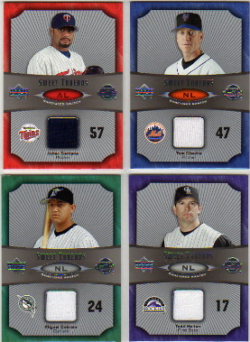 2005 Sweet Spot Sweet Threads #TG Tom Glavine