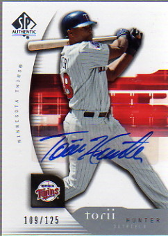 2005 SP Authentic Signature #94 Torii Hunter/125