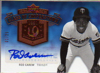 2005 Upper Deck Hall of Fame Class of Cooperstown Autograph #RC1 Rod Carew Twins