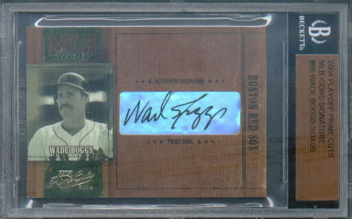 2004 Prime Cuts MLB Icons Signature #66 Wade Boggs Sox/25