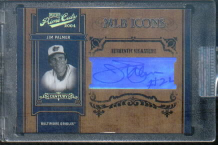 2004 Prime Cuts II MLB Icons Signature Century Gold #8 Jim Palmer/22