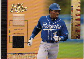 2004 Leather and Lumber Lumber/Leather Bat-Spikes #3 Angel Berroa/25