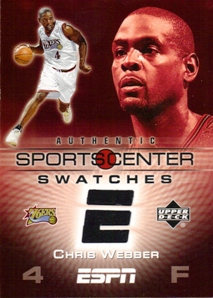 2005-06 Upper Deck ESPN Sports Center Swatches #CW Chris Webber