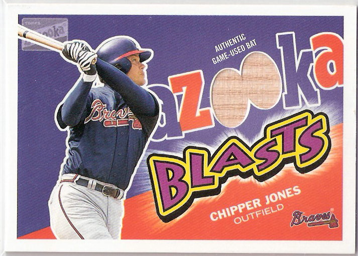 2003 Bazooka Blasts Relics #CJ Chipper Jones E