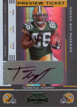 2005 Leaf Limited Contenders Preview Autographs #176 Terrence Murphy/25