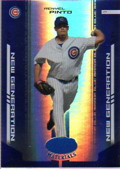 2004 Leaf Certified Materials Mirror Blue #252 Renyel Pinto NG