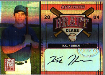 2004 Donruss Elite Extra Edition Draft Class Signature #39 Joe Bauserman/K.C. Herren/100