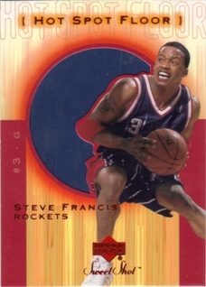 2001-02 Sweet Shot Hot Spot Floor #SFF Steve Francis