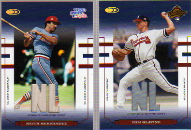 2004 Donruss World Series Blue Material Fabric AL/NL #71 K.Hernandez Cards Jsy/50