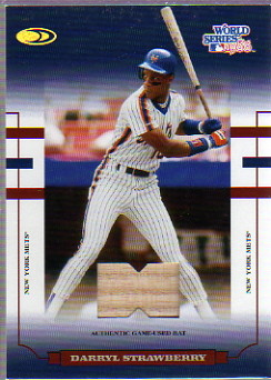 2004 Donruss World Series Blue Material Bat #64 Darryl Strawberry Mets
