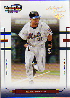 2004 Donruss World Series HoloFoil 50 #117 Mike Piazza