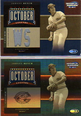 2004 Donruss World Series October Legends Material #10 Johnny Bench Jsy/50