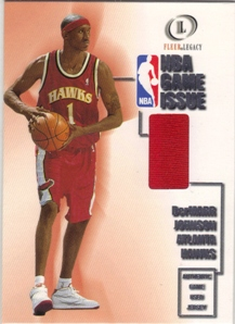 2000-01 Fleer Legacy NBA Game Issue #GI25 DerMarr Johnson