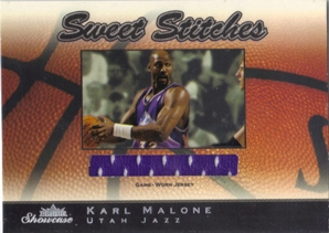 2003-04 Fleer Showcase Sweet Stitch Game-Used #6 Karl Malone