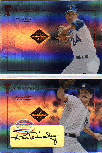 2005 Leaf Limited Team Trademarks Signature #37 Ron Guidry/25